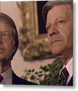 Jimmy Carter Meeting With German Metal Print by Everett