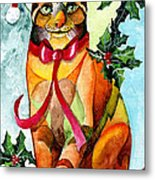 Jingle Cat Metal Print