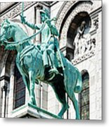 Joan Of Arc At Sacre Coeur Basilica Paris France Metal Print