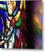 Joan Of Arc Stained Glass Metal Print