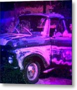 Joe And The Pontiac Truck Metal Print