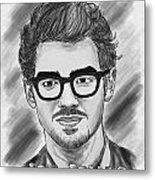 Joe Jonas Drawing Metal Print