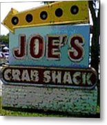 Joe's Crab Shack Metal Print