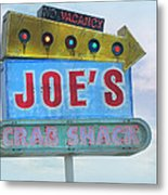 Joe's Crab Shack Retro Sign Metal Print