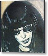 Joey Ramone The Ramones Portrait Metal Print by Kristi L Randall