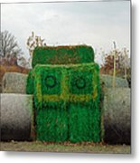 John Deer Made Of Hay Metal Print