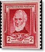 John Greenleaf Whittier Postage Stamp Metal Print