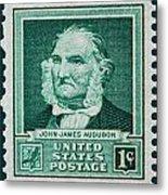 John James Audubon Postage Stamp Metal Print