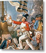 John Paul Jones Shooting A Sailor Who Had Attempted To Strike His Colours In An Engagement Metal Print