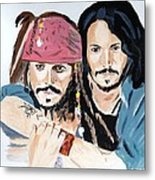Johnny Depp X 2 Metal Print