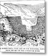 Johnstown Flood: Dam, 1889 Metal Print