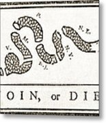 Join Or Die French And Indian War Metal Print