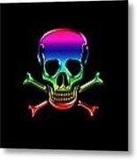 Jolly Roger Rainbow Metal Print