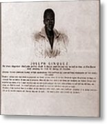 Joseph Cinquez, Lead Fifty-four African Metal Print by Everett