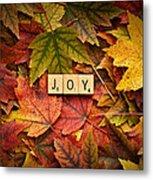 Joy-autumn Metal Print