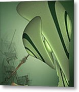 Joyce's Hand Shape In A Cup Of Tea Metal Print by Augustin  Tatar