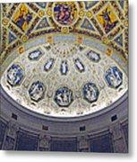 Jp Morgan Library Ornate Ceiling Metal Print
