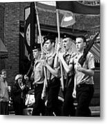 Jrotc Carrying Flag In The Parade Metal Print
