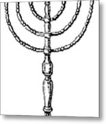 Judaism: Menorah Metal Print