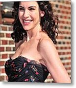 Julianna Margulies At Talk Show Metal Print