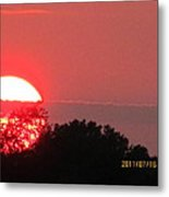 July 16 Sunset Three Metal Print