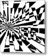 July 4th Maze Metal Print