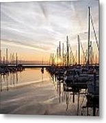 July Evening In The Marina Metal Print