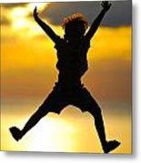 Jumping Boy Metal Print