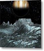 Jupiter From Europa, Artwork Metal Print