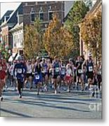 Just After The Gun At A Running Race On A Town Street Metal Print