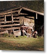 Just An Old Car Tucked Away Metal Print