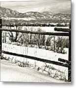 Just Beyond The Fence 1 Metal Print