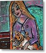 Just Fine Alone  Metal Print by Tammy Cantrell