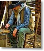 Just Playing Checkers Metal Print