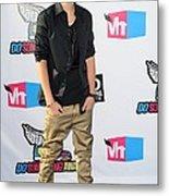 Justin Bieber At Arrivals For 2011 Vh1 Metal Print