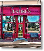 Justine's Ice Cream Parlour Metal Print
