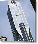 Jw Marriott Tower In Downtown Shanghai Metal Print by Jeremy Woodhouse
