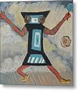 K Is For Kachina Detail From Childhood Quilt Painting Metal Print
