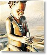 Kalahari Little Boy Metal Print