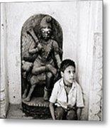 Kali In Benares Metal Print
