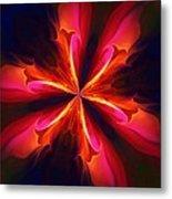 Kaliedoscope Flower 121011 Metal Print by David Lane