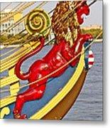 Kalmar Nyckel Red Lion Metal Print