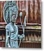 Kannon Bodhisattva Metal Print by Karen Walzer