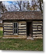 Kansas Log Cabin Metal Print