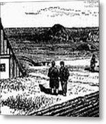 Kansas, Mennonites, C1874 Metal Print