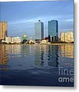 Kaohsiung City Waterfront In The Late Afternoon Metal Print
