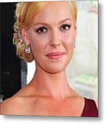 Katherine Heigl At Arrivals For Life As Metal Print