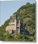 Katz Castle On A Hillside Metal Print