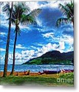 Kauai Beach And Palms Metal Print