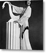 Kay Francis Modeling White-crepe Metal Print